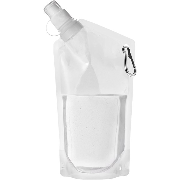 Cabo 600 ml water bag with carabiner - Transparent Clear