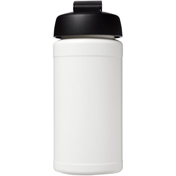 Baseline® Plus 500 ml flip lid sport bottle - White / Solid black