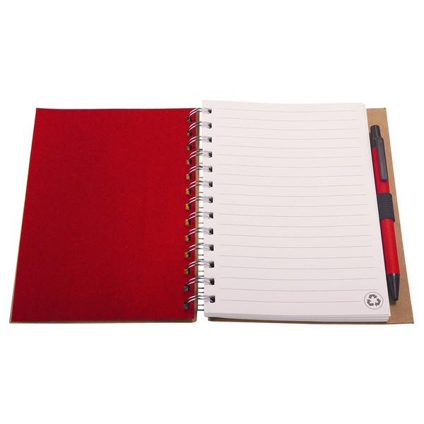 Notes 120x180/70k linia Envivo - Czerwony / Beżowy
