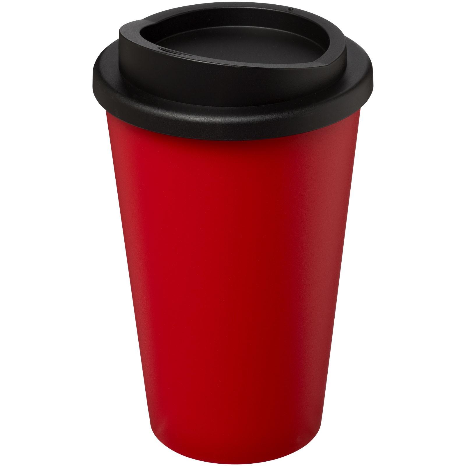 Termo hrnek Americano® 350 ml - Červená s efektem námrazy / Černá