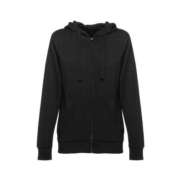 AMSTERDAM WOMEN. Damen Sweatshirt, mit Reißverschluss und Kapuze - Schwarz / XXL