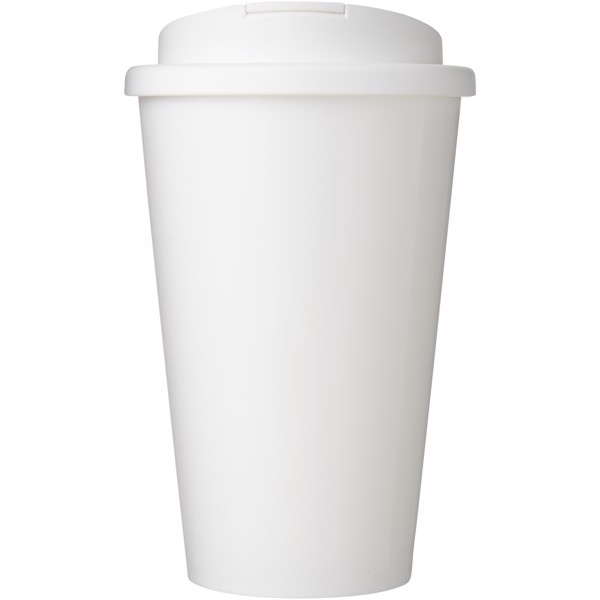 Brite-Americano® 350 ml tumbler with spill-proof lid - White