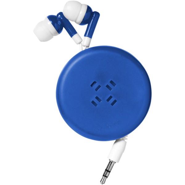 Samonavíjecí sluchátka Reely - Světle modrá / Bílá