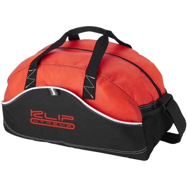 Boomerang duffel bag - Solid black / Red