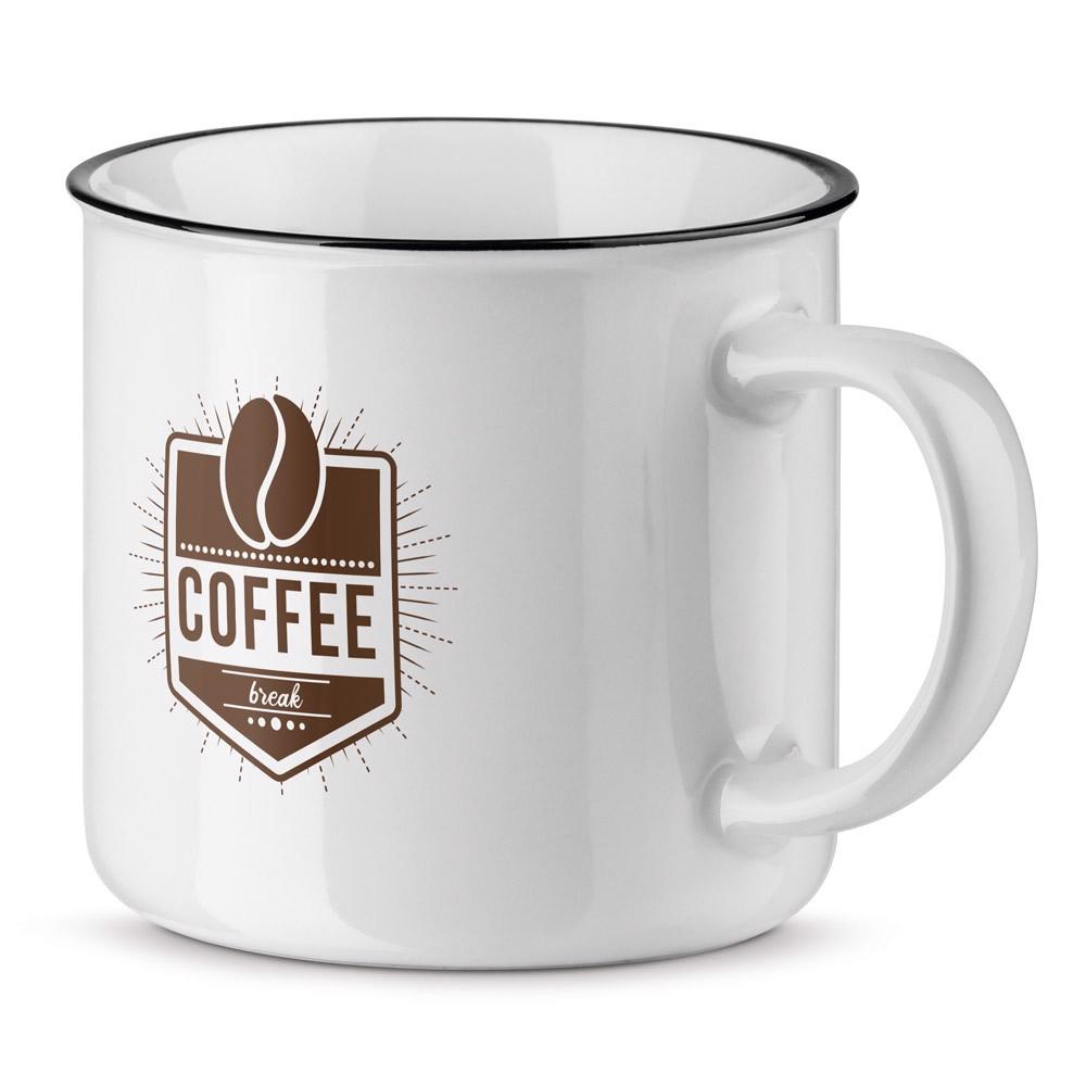 VERNON WHITE. Ceramic mug 360 ml