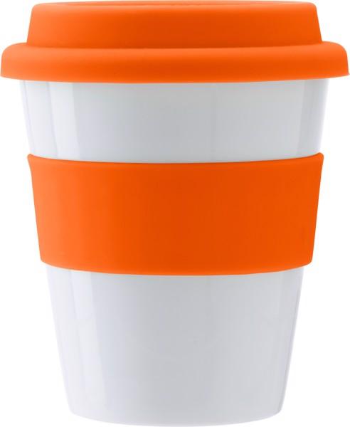 Trinkbecher 'Soft' aus Kunststoff - Orange