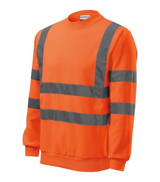 Sweatshirt unisex Rimeck HV Essential - Fluorescent Orange / 2XL