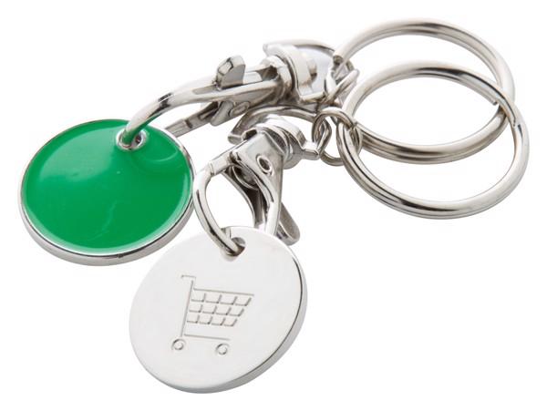 Přívěšek Na Klíče Se Žetonem Euromarket - Zelená