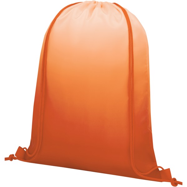 Oriole šňůrkový batoh s barevným přechodem - 0ranžová
