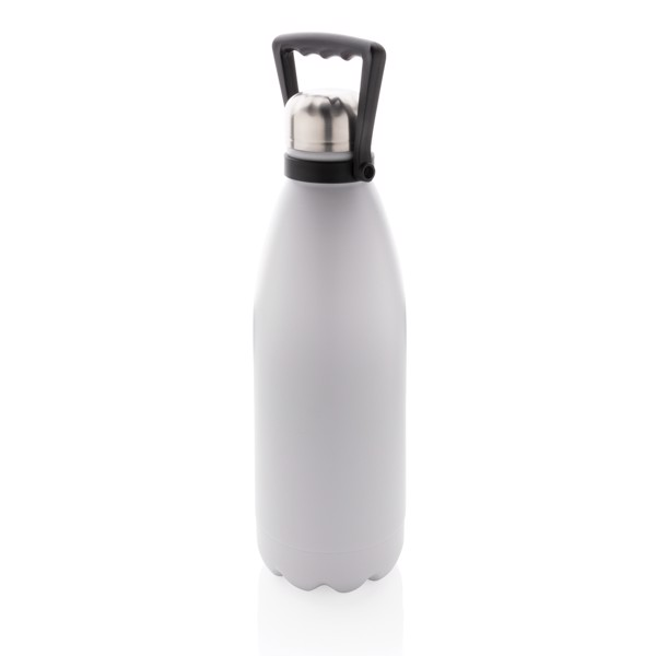 Velká termo láhev 1,5L - Bílá
