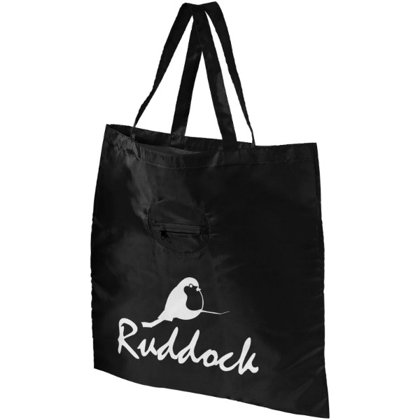 Skládaná nákupní taška - Černá