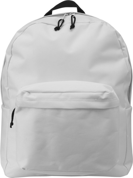 Polyester (600D) backpack - White