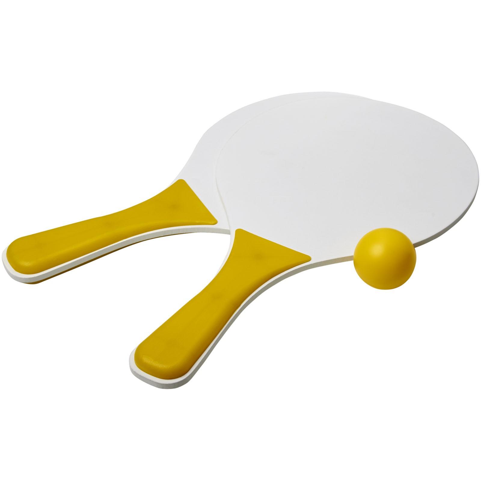Bounce plážová herní sada - Žlutá / Bílá