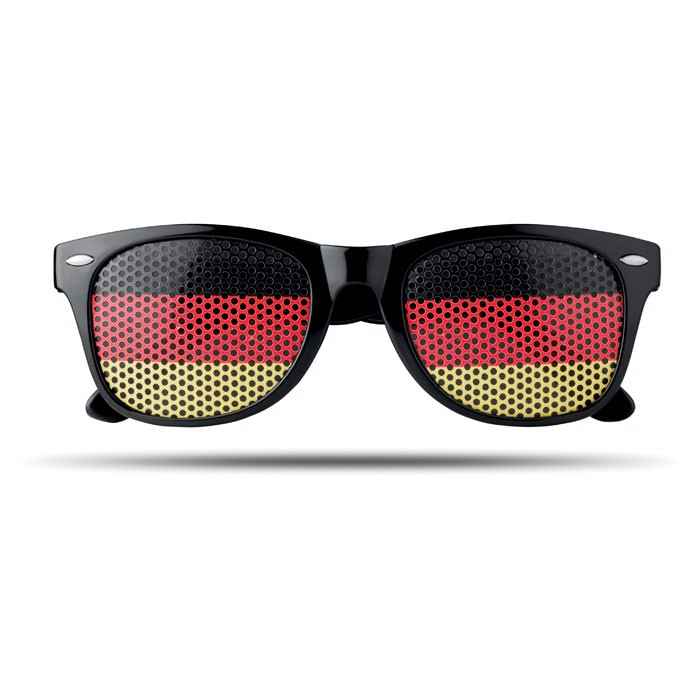Fan Sonnenbrille Flag Fun - gelb