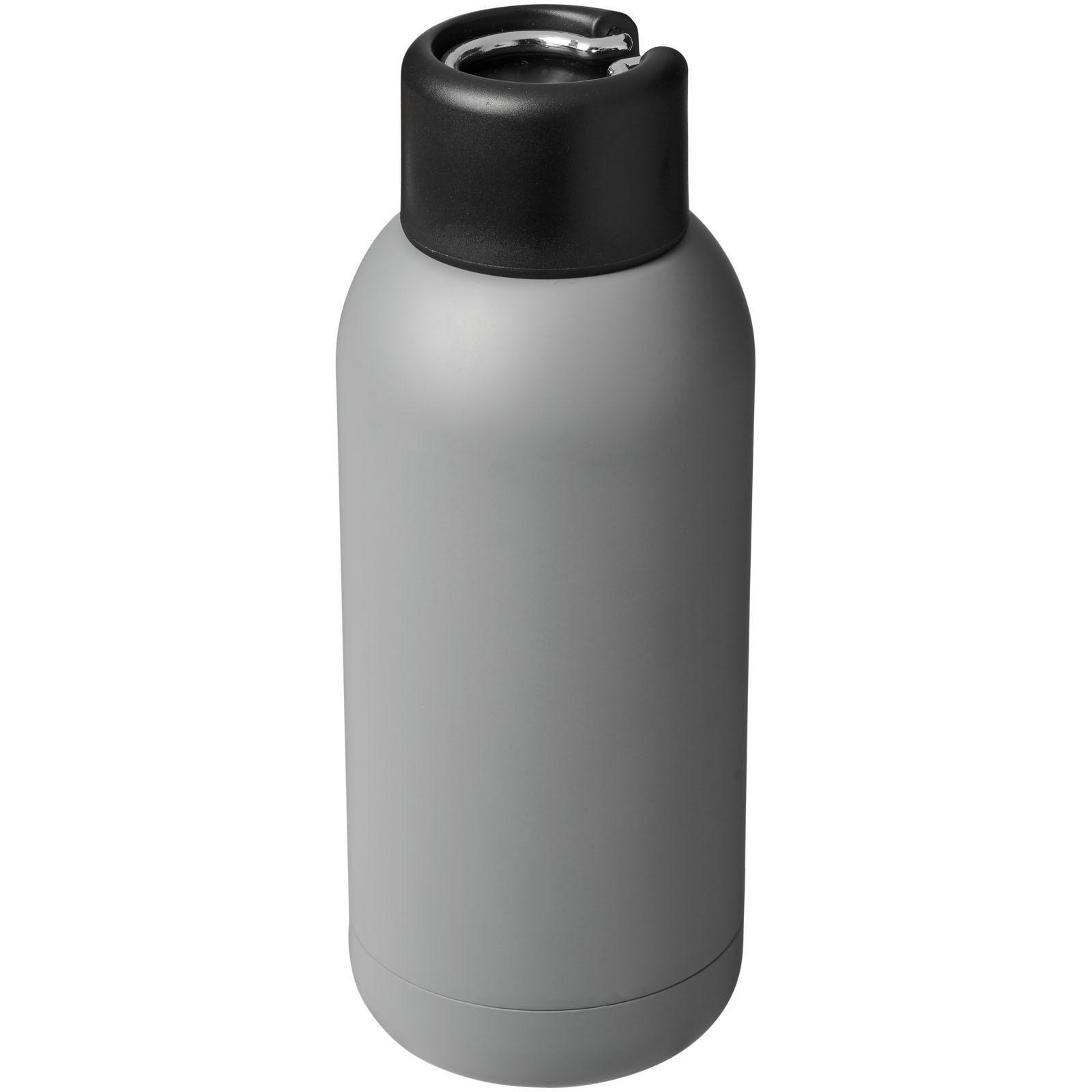Měděná sportovní láhev Brea 375 ml s vakuovou izolací - Šedá