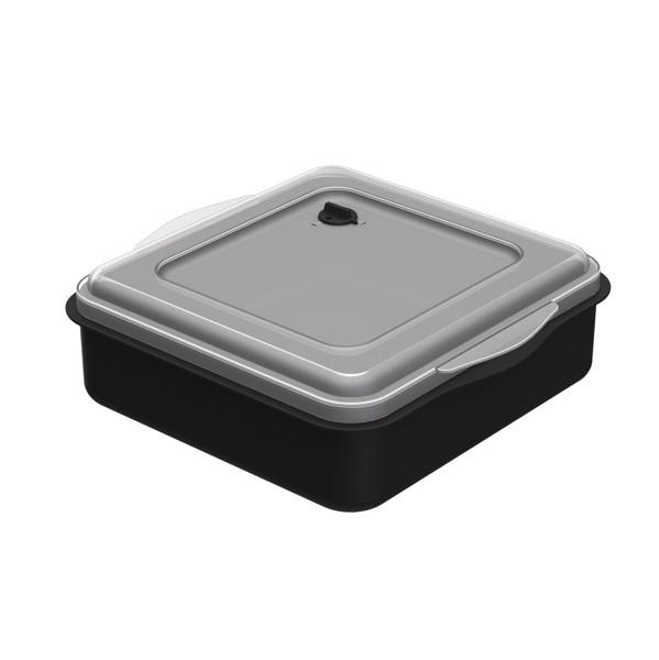 """Universal Box """"Togo"""" - Plain Black / Transparent"""