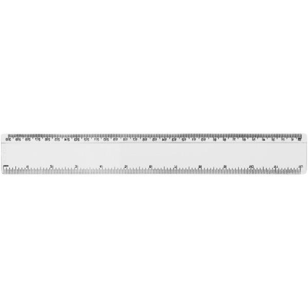 Renzo 30 cm plastic ruler - Transparent clear