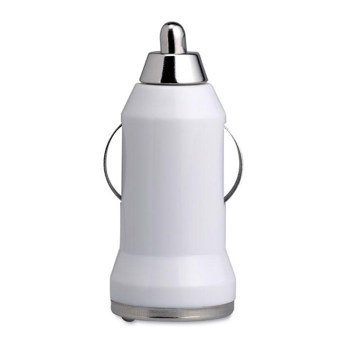 Ładowarka USB do samochodu Mobicar - biały