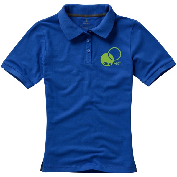 Calgary short sleeve women's polo - Blue / XXL