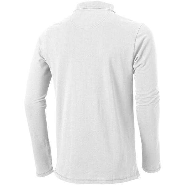 Oakville long sleeve men's polo - White / L