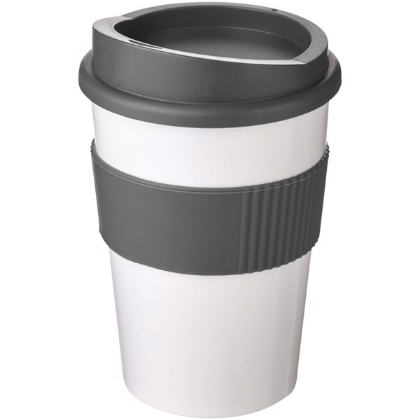 Americano® medio 300 ml tumbler with grip - White / Grey