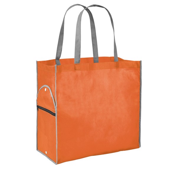 PERTINA. Αναδιπλούμενη τσάντα - Πορτοκάλι