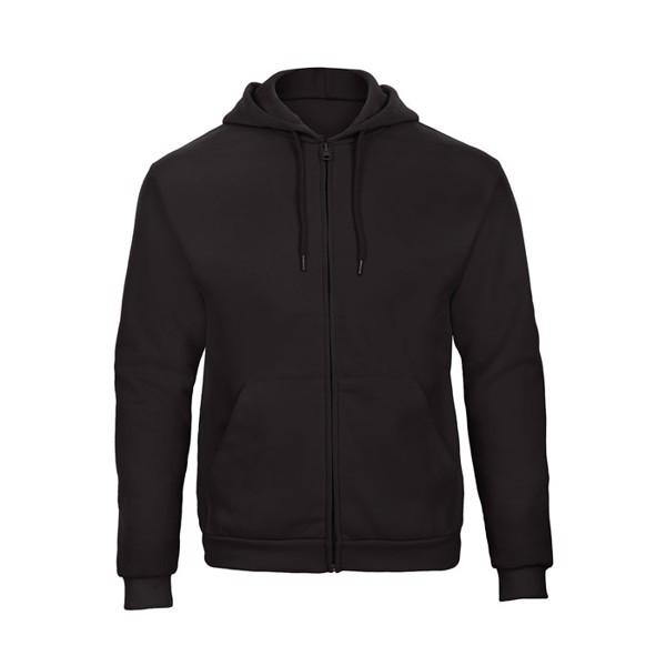 Hooded sweat men Hooded Full Zip Sweat Unisex - Black / XL