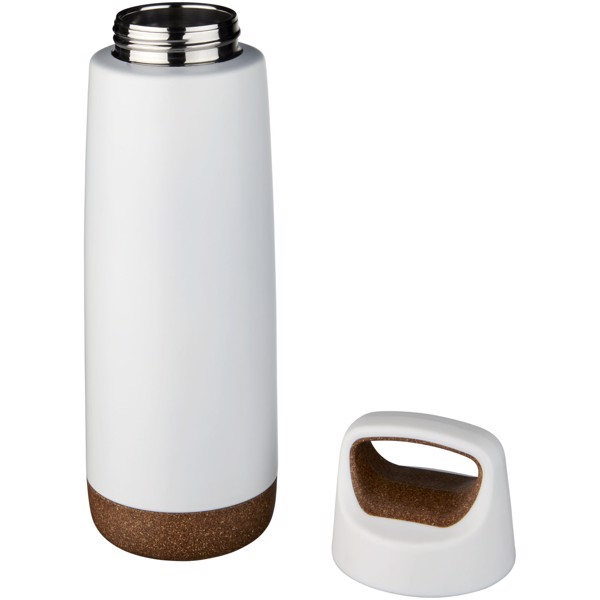 Valhalla 600 ml copper vacuum insulated sport bottle - White