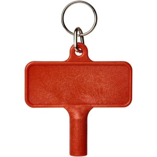 Largo Kunststoff Heizkörperschlüssel mit Schlüsselanhänger - Rot