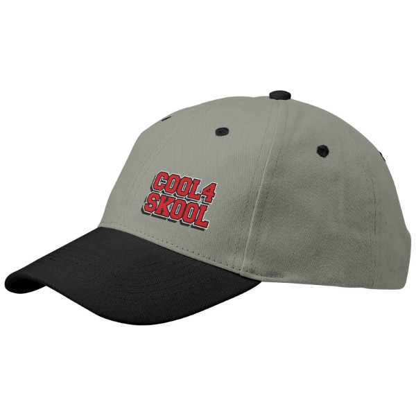 Grip 6 panel cap - Grey / Solid black