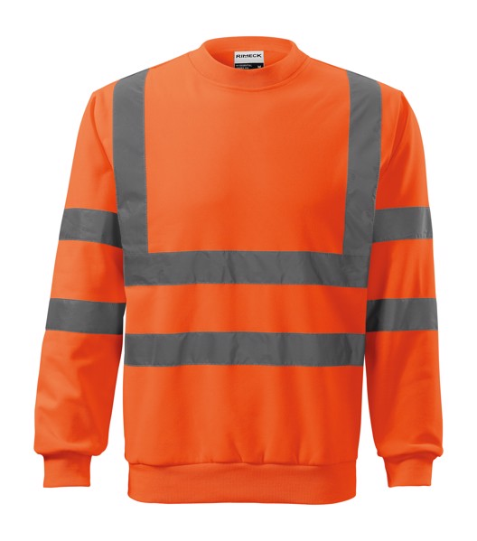 Mikina unisex Rimeck HV Essential - Fluorescenční Oranžová / M