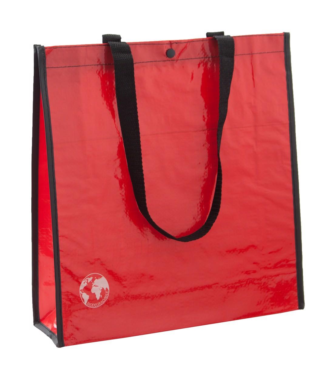 Nákupní Taška Z Recyklovaného Materiálu Recycle - Červená / Černá