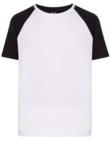 Sport T-Shirt Contrast Man - White / Black / XXL