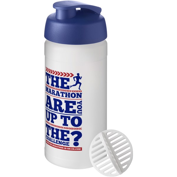 Baseline Plus 500 ml shaker bottle - Blue / Frosted clear