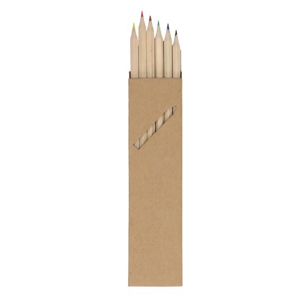 """Crayon Set """"Nature 6"""" Long"""