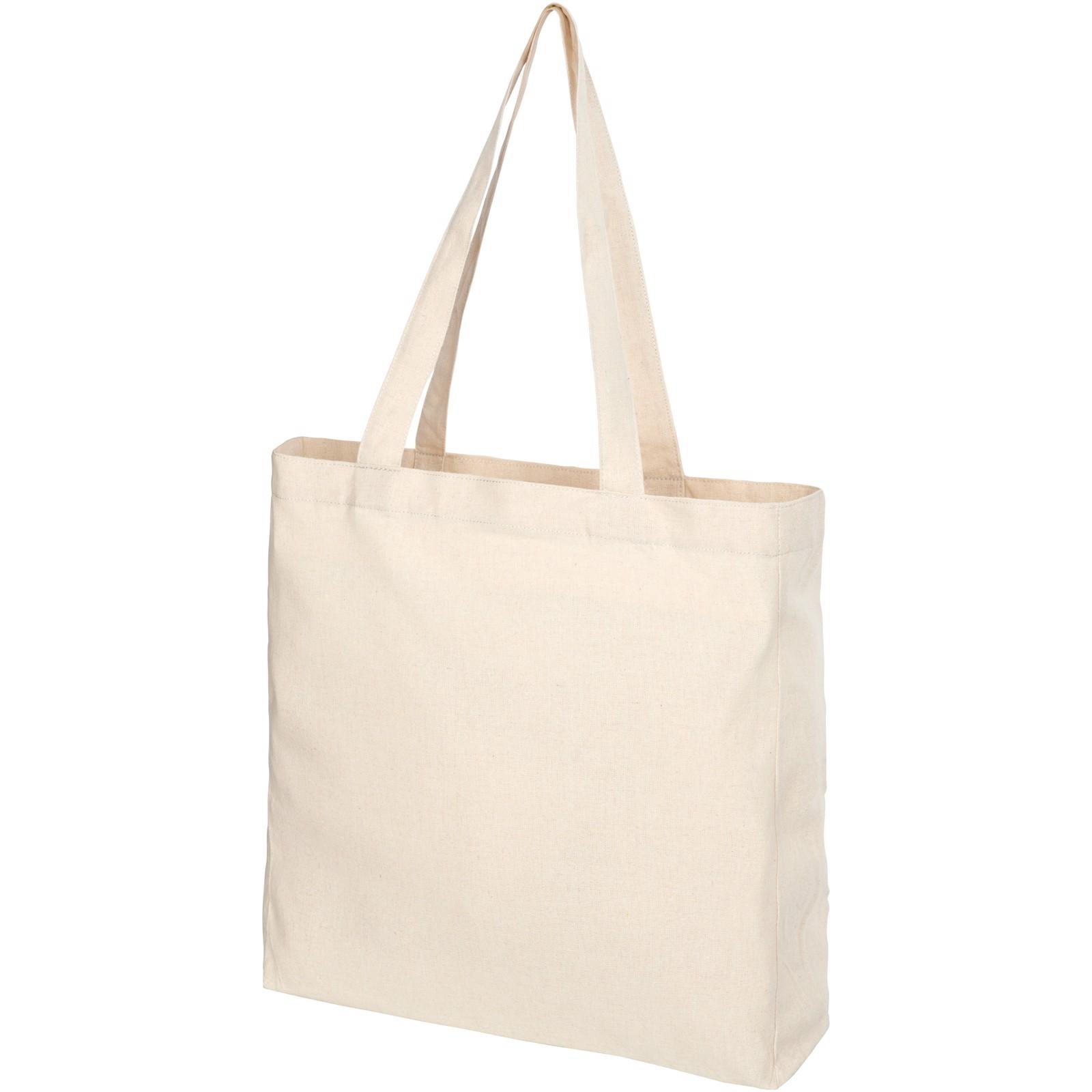 """Bolsa Tote de algodón reciclado de 210 g/m² con refuerzos """"Pheebs"""" - Natural"""