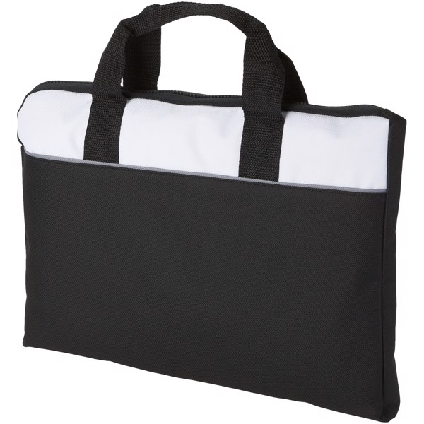 Tampa conference bag - Solid Black / White