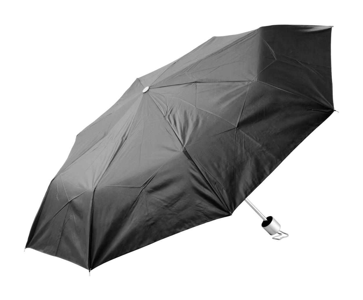 Deštník Susan - Černá / Stříbrná