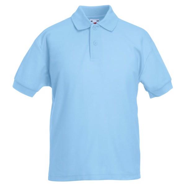 Dziecięca Koszulka polo 170 65/35 Kids Polo 63-417-0 - Błękitny / M