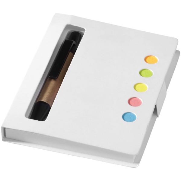 Brožura barevných lepicích poznámkových bločků Reveal - Bílá