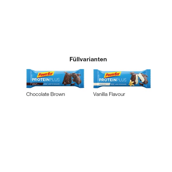 Powerbar Protein Plus Riegel, Chocolate Brown - Weiß / Chocolate Brown