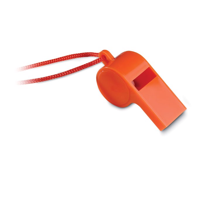 Whistle with security necklace Referee - Orange