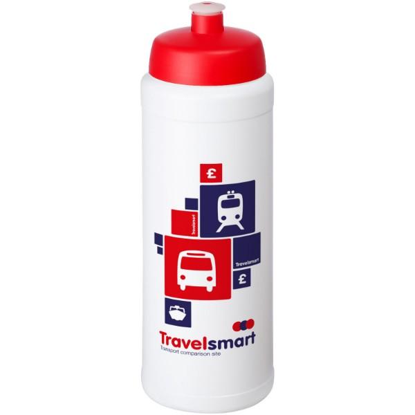 Baseline® Plus grip 750 ml sports lid sport bottle - White / Red