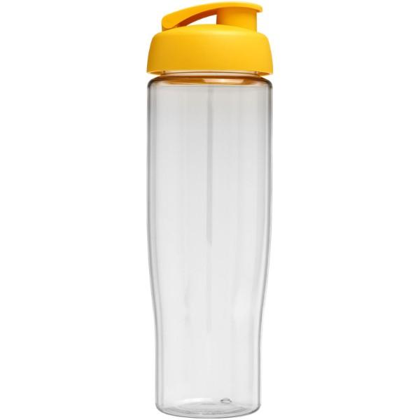 Sportovní láhev s vyklápěcím víčkem H2O Tempo® 700 ml - Průhledná / Žlutá