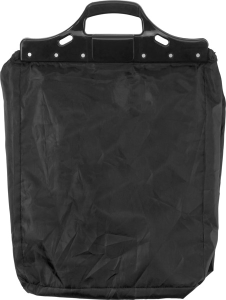 Polyester (210D) trolley shopping bag - Black