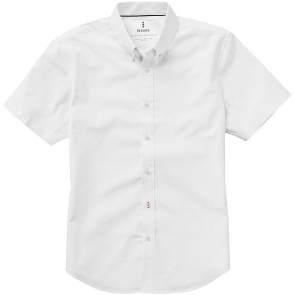 "Camisa tipo Oxford de manga corta de hombre ""Manitoba"" - Blanco / XS"