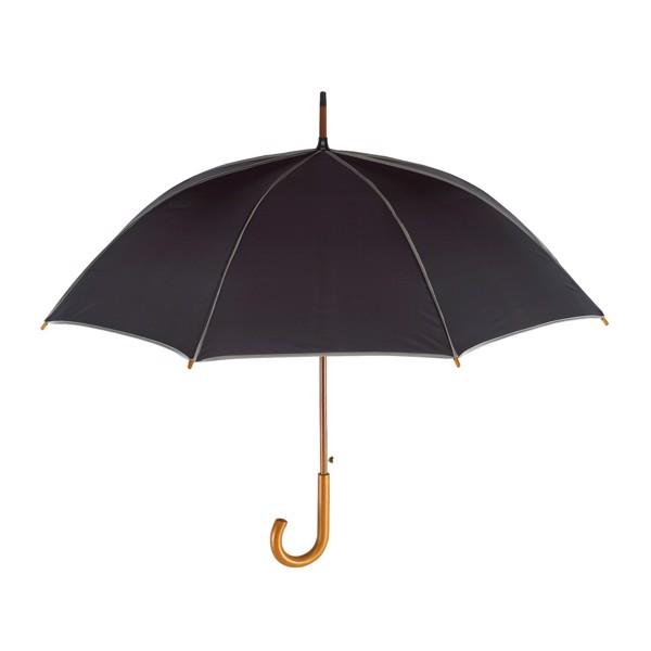 Automatický Dřevěný Holový Deštník Waltz / Černá / Šedá