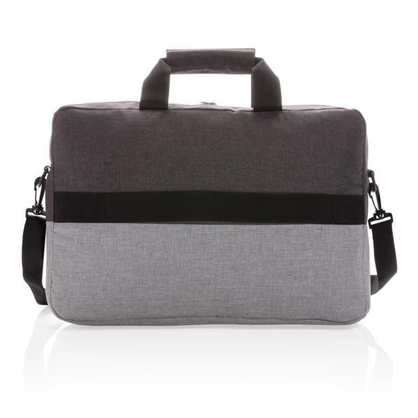 """Dvobarvna torba za prenosni računalnik 15.6"""" z RFID zaščito brez PVC-ja"""