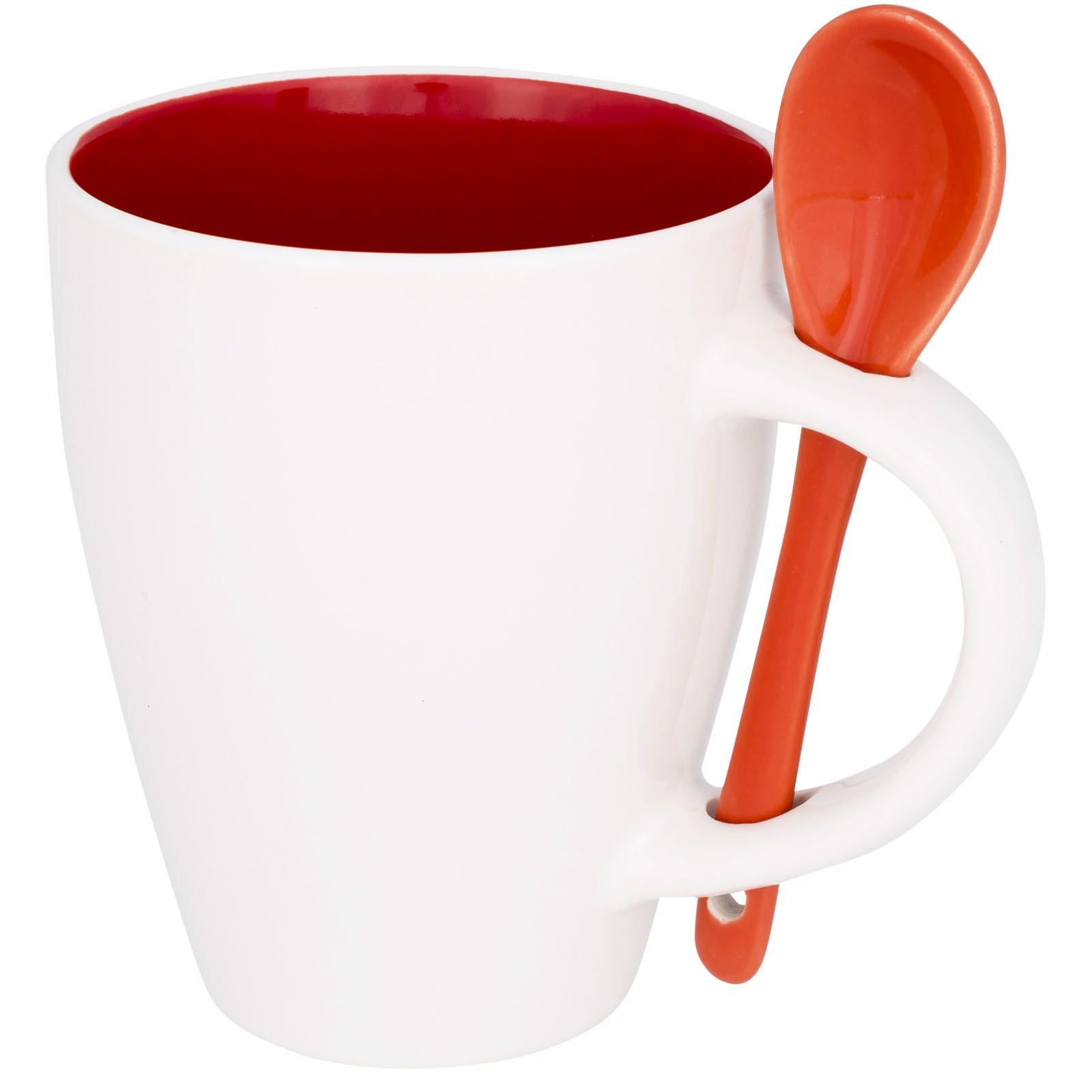 Nadu 250 ml Tasse mit Löffel - Rot