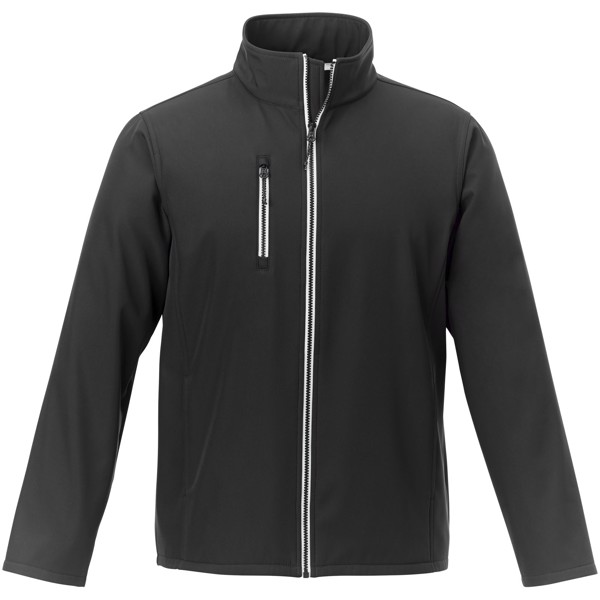 Orion men's softshell jacket - Solid Black / S